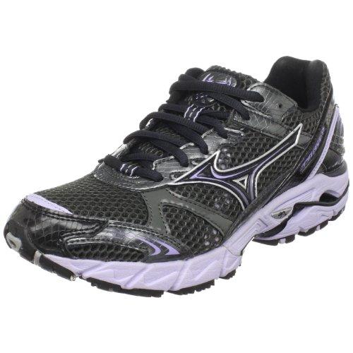 Mizuno Women's Wave Rider 14 Running Shoe,Gunmetal/Purple Heather-Anthracite,10.5 M US