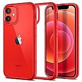 Spigen Ultra Hybrid Hülle Kompatibel mit iPhone 12 Mini -Rot