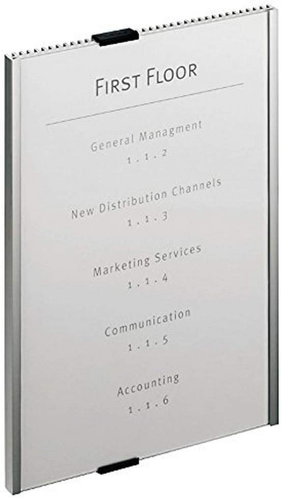 DURABLE Fresno Mall Easy to Update Office Wall Popular popular Mounted Sign 8-1 11 x Info 2