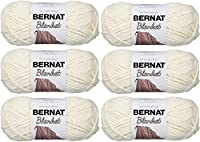 Bernat ブランケット糸 5.3オンス 6パック オフホワイト 161200-110