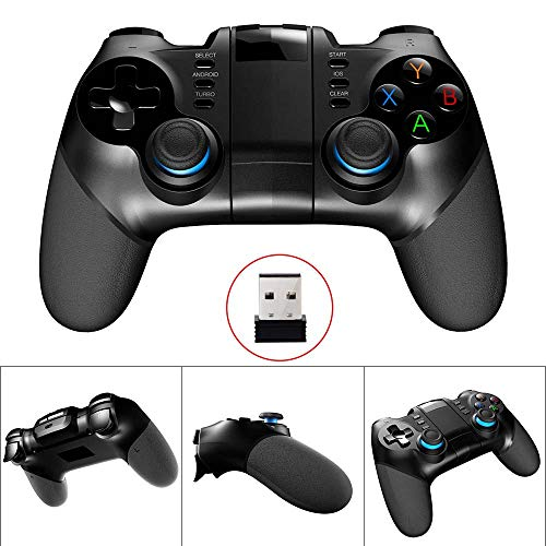 Game Controller Wireless Bluetooth Gamepad Remote Compalte for PC (Windows XP/7/8/8.1/10), PS3, Android Phone, Vista, TV Box Portable Gaming Handle Gift Birthday Party Christmas -Classic Black