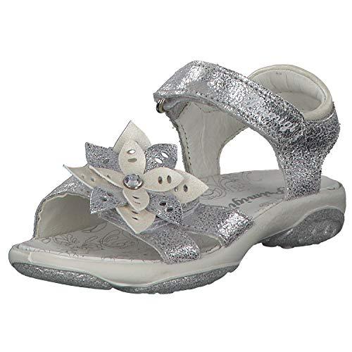 PRIMIGI 3389222 PBR 33892 Mädchen Sandale aus Glattleder mit Lederausstattung, Groesse 32, hellblau/Silber