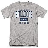 Drake University Official Est. Date Unisex Adult T Shirt,Est. Date, Large