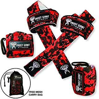 Premium Wrist Wraps + Lifting Straps Bundle w/Carry Bag | Professional Grade Heavy Duty Hand and Wrist Support Weightlifting, Crossfit, Powerlifting, Bodybuilding and Workout
