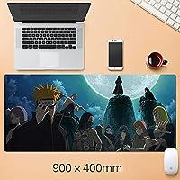 ナルトアニメマウスパッド拡張マウスパッド - ゲームマウスパッド - オフィスデスクマットステッチエッジ&スキッドプルーフラバーベース - 15.75 x 35.45インチ-A1_300 * 900 * 3mm