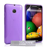 Yousave Accessories Motorola Moto E Case Silicone Gel Case