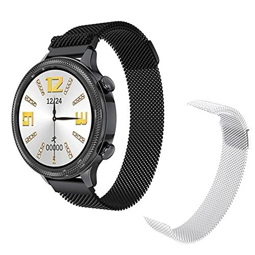 LJMG Smart Watch H58 Smart Watch Smart Watch, Schermo Circolare Completo A Ciclo Completo, Orologio da Donna HM4, Cinturino da Donna, Cinturino da Donna per Andro,C