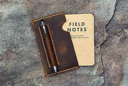 Leather sleeve for Field notes pocket size/distressed leather field notes case/Minimalist field notes sleeve cover FA605SV