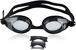 JumpStar Prescription Swim Goggle, Anti Fog, Optical Corrective (0 to -6.0) Swimming, Nearsighted for Men, Women and Kids