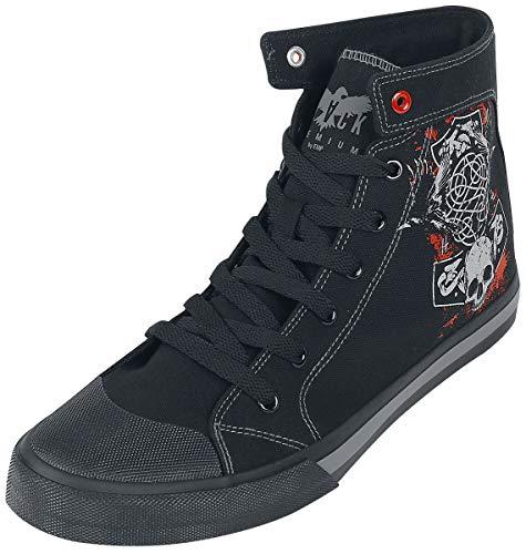 Black Premium by EMP Walk The Line Hombre Deportivas Altas Negro EU42, Tela, Suela de Goma,