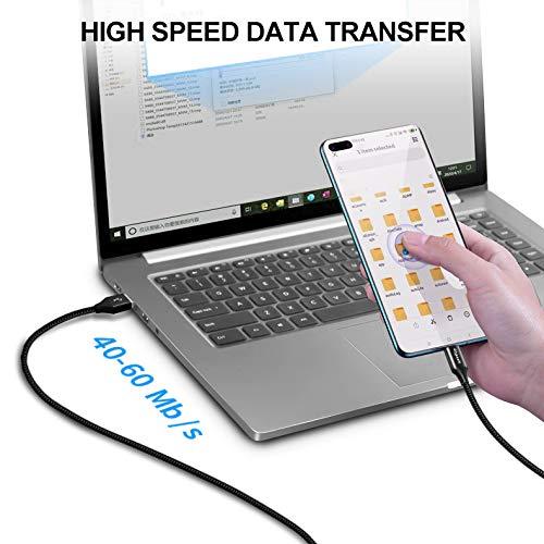 etguuds USB C Kabel [ 1m/2Stück ], Langlebige Nylon Typ C Ladekabel und Datenkabel USB C, 3A Schnellladekabel, für Samsung Galaxy S10 S9 S8 S20 +, Note 10 9 8, A50 A40 A51 A41 A71, Xperia XZ, Redmi