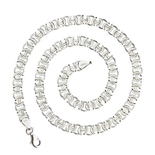 925 Silberkette: Königskette flach Silber 7mm 55cm - KKFL-70-55