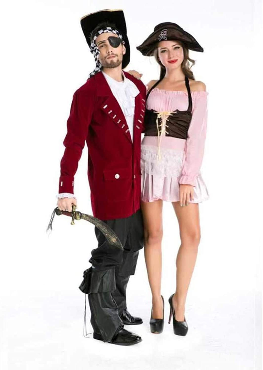 OFZYG Halloween Jack Pirate Outfit Holiday Party Cosplay Role Playing Stage Performance Pirate Captain Costume