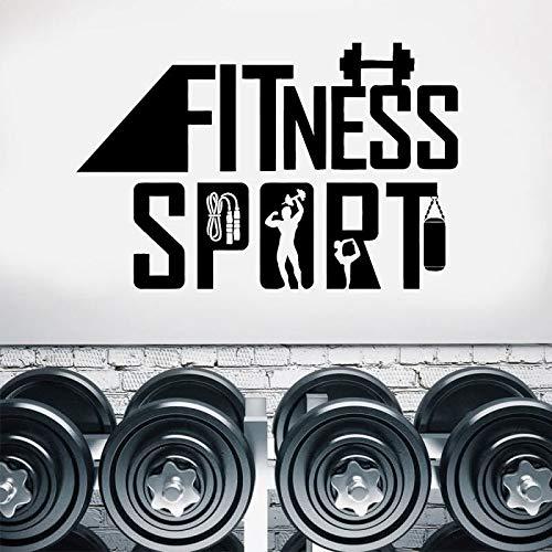 Creativo gimnasio Fitness deporte calcomanías de pared vinilo extraíble arte decoración del hogar pegatina cita cartel estilo de vida saludable Mural Interior 57 * 88 cm