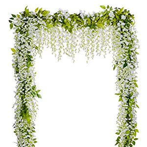 Wedding Arch Floral Decor - DearHouse Wisteria Artificial Flowers Garland