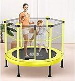 Falten-Rebounder-Trampolin-Trampolin für Kinder mit Sicherheitsgehäuse im Freien und Indoor-Übung Fitness-Rebounder Trampolin-Elternkind-Unterhaltung Spielzeug Max-Last 660lbsBlue, 121x121x120cm