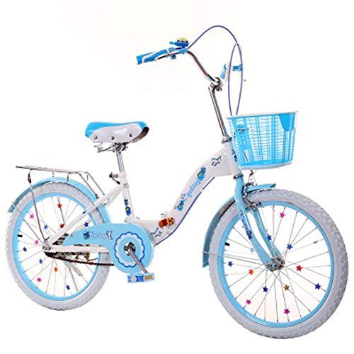 DPGPLP Opvouwbare fiets, voor dames en heren, inklapbaar, voor kinderen, 18/20/22 inch, 6-14 jaar, voor studenten, snelheid, vrouwelijke fiets, inklapbaar
