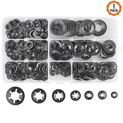 DealMux 20 mm x 39 mm x 2,7 mm de acero inoxidable 304 Starlock Arandelas sujetadores 10 piezas