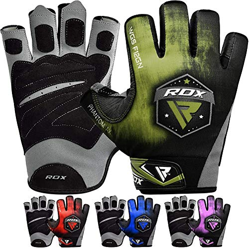 RDX Weight Lifting Gloves for Gym Workout - Breathable with Padded Anti Slip Palm Protection - Great for Fitness Exercise, Bodybuilding, Powerlifting, Weightlifting, Strength Training & Cycling
