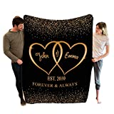 Stylish Gears Personalized Blankets for The Closest One to Your Heart Custom Blanket Couple, Custom Couple Gifts (Size- 60'x80')