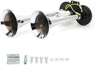 Moto Tromba da Treno da 300 Db per Camion Auto Kit Corna da Treno Impermeabile 12 // 24v Biciclette E Barche con Alimentazione 12//24v Tromba Singola Lumaca Elettrica da 300 Db Ad Aria Forte