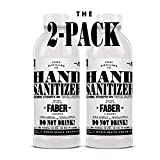 Faber Hand Sanitizer | 16.9 Oz Bottle | 80 Percent Ethanol Alcohol Based Disinfecting Hand Cleanser, Unscented | 2 Pack