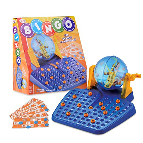 Toyrific Bingo Classic Family Game with Ball Dispenser, Cards and Numbered Bingo Balls