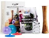 Kit Completo de Masontops de Mason Jar para Fermentación- Set de Frascos de Boca Ancha Fácil para...