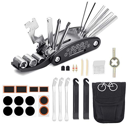 Etercycle Fahrrad Multitool, 16-in-1 Multifunktions Reparatursatz die Fahrrad Reparatur, Reparatursatz Fahrradwerkzeug Kit für Mountainbikes und Rennräder