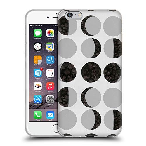 Head Case Designs Officially Licensed Amanda Laurel Atkins Fases Lunares Blancas Patrones Carcasa de Gel de Silicona Compatible con Apple iPhone 6 Plus/iPhone 6s Plus