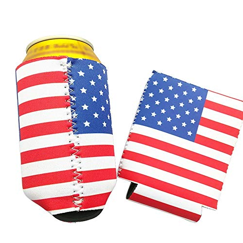Mirthful Kan Cooler Holder Beer drank Fles Dekking van de Koker Uitdeelkadootjes Pattern Flag Home Kitchen supplies