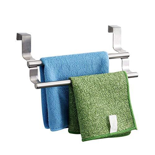 COOLSHOPY Nordeuropa - Toallero de acero inoxidable con doble barra cromada para baño