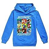 Sonic The Hedgehog Pullover Plusieurs enfants couleur à capuche for enfants Confortable à manches longues T-shirt pull avec capuche Sonic The Hedgehog Sweatshirt ( Color : Blue01 , Size : 110 )