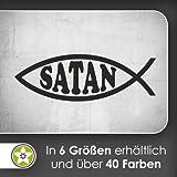 Satan Fisch Fish Wandtattoo in 6 Größen - Wandaufkleber Wall Sticker