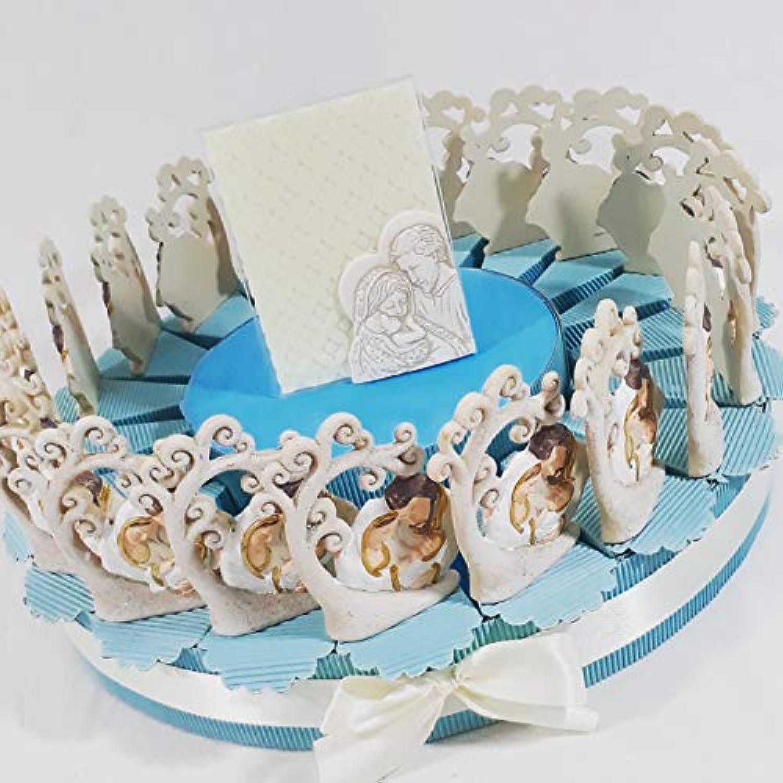 Torte Taufe Geburt mit Bume des Lebens mit Heilige Familie und Mitte Rahmen-Unterstützung Carlo Pignatelli Kind Torta Da 60 Fette