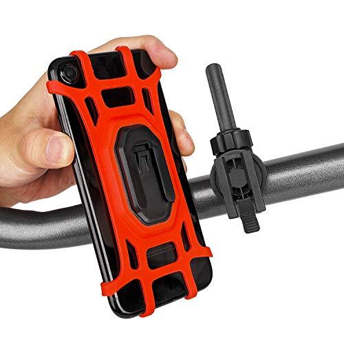 CooSpo Universal Handyhalterung für Fahrrad, Motorrad, Mountainbike, Fahrrad handyhalterung für 4,7-6,0 Zoll Smartphone, 360° Drehbar (Rot)
