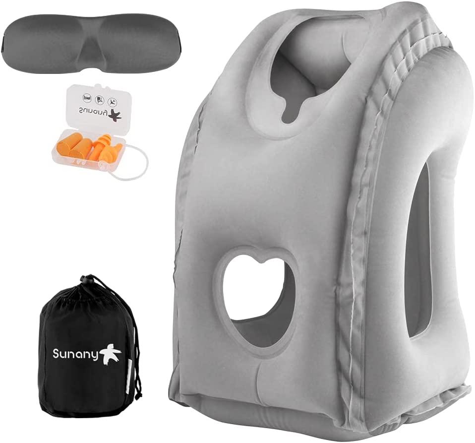 OFFer Sunany Inflatable Travel Dedication Pillow Airplane Tra Neck for