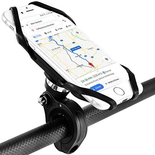 SINLAND Premium Handyhalterung Fahrrad, Motorrad, Quad, Kinderwagen | Anti-Vibration Smartphone Halterung Handy-Halterung Fahrradlenker | multifunktionale 360° Lenker Handy Halterung | 4-6 Zoll