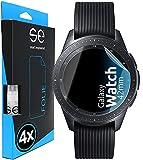3D Película Protectora - Protector de Pantalla compatible con Samsung Galaxy Watch 42mm [4 unidades | smart engineered] - Pelicula vidrio TPU -transparente, resistente al agua, lámina blindada