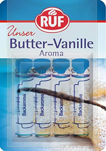 RUF Backaroma Butter-Vanille zum Aromatisieren von 500g Teig oder 500ml Flüssigkeit, 20er Pack (20 x 4 x 2g Packung)