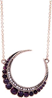 NORTHSTAR PEARLS AND JEWELRY: Crescent Moon Necklace,Available in Three Colors. white, green and maroon.