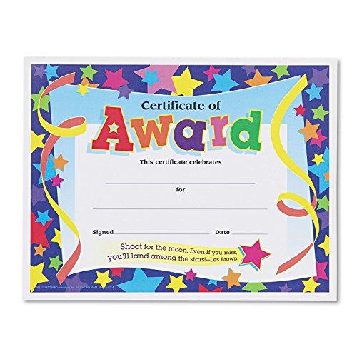 Trend Enterprises Certificate,Award,Star,30PK