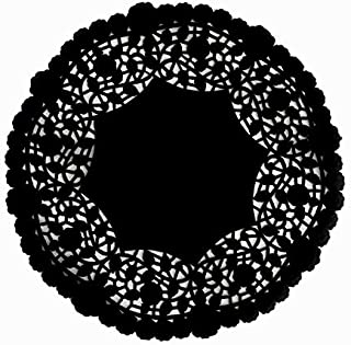 100 Pack - 10 inch Quality Black Paper Doilies | Intricate Lace Design | Perfect as Wedding Reception Charger Plates and Table Placemat Decor | Stylish as Invitations, Napkin holders, or Centerpieces