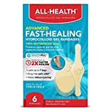 All Health Advanced Fast Healing Hydrocolloid Gel Bandages, Assorted Sizes, 6 ct   2X Faster Healing for First Aid Blisters or Wound Care