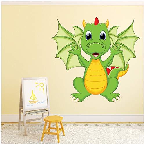 azutura Drachen Wandtattoo Monster Wand Sticker Kinderzimmer Kinderzimmer Wohnkultur Erhältlich in 8 Größen X-Groß Digital