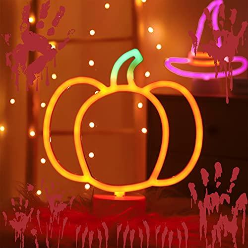 Pumpkin Cute Light Halloween Night Lights,Fall Desk Decor LED Pumpkin Shape Lamp for Thanks Giving Home,Fun Light for Kids Room Decoration Powered by Battery