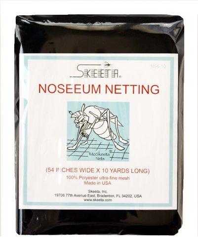 Skeeta Mosquito No-See-um Netting 54' Wide X 10 Yards - Black