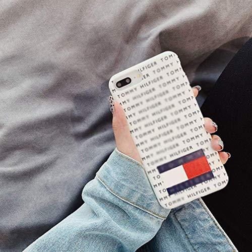 SDSJK Phone Cover, TPU, Antiurto, Antiscivolo, per iPhone XS Max,XR,XS,X,7/8Plus,7/8 Phone Cover,White,XS