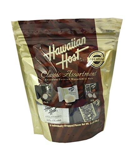 ハワイアンホースト ジャパン マカデミアナッツチョコレートクラシックアソートメント スタンドアップバッグ 96g