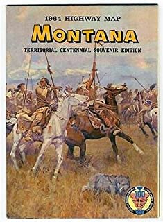 1964 MONTANA Territorial Centennial Souvenir Edition Highway Map